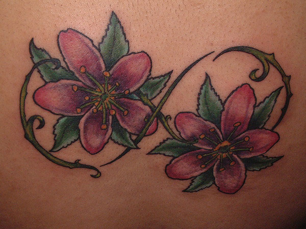 flowers with infinity symbol 30 Remarkable Infinity Symbol Tattoo Designs