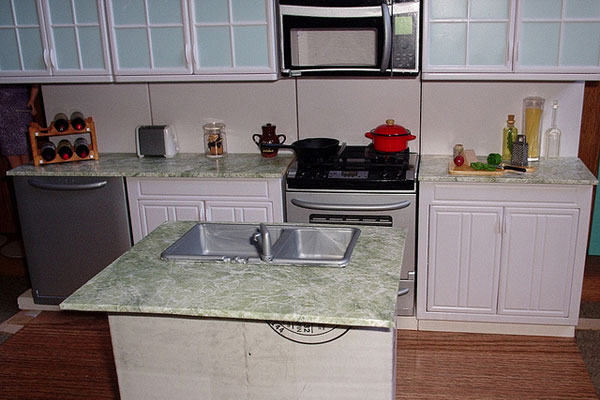 Patterned Kitchen Island