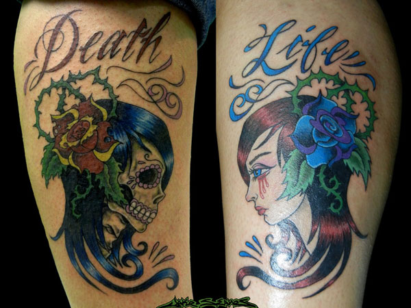 25 Amazing Life Death Tattoo Designs Slodive