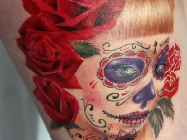 colorful tattoo 35 Astounding Mexican Tattoos