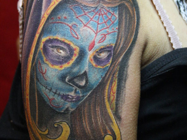 day of the dead girl tattoo 35 Astounding Mexican Tattoos