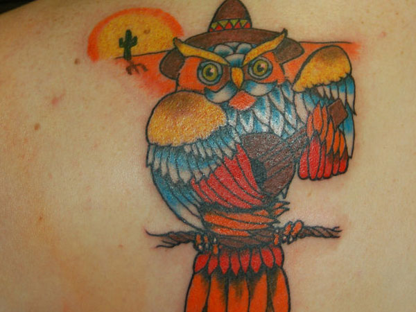 mexican owl tattoo 35 Astounding Mexican Tattoos