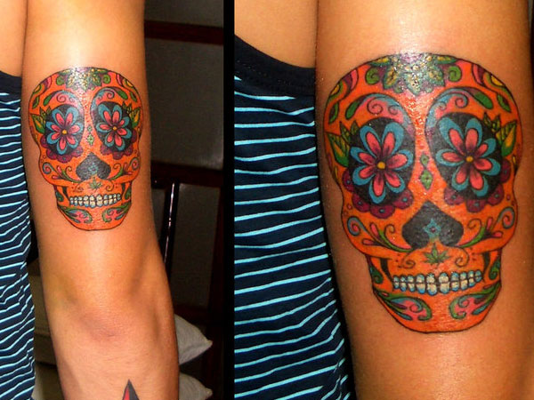 mexican sugar skull tattoo 35 Astounding Mexican Tattoos