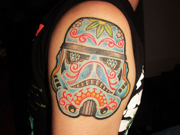 my stormtrooper mexican skull 35 Astounding Mexican Tattoos