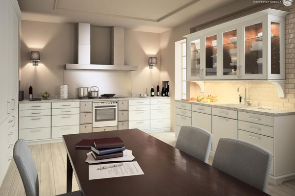White Theme Kitchen