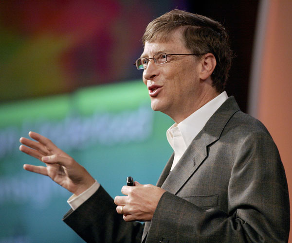 bill gates 30 Marvelous Pictures of Famous People