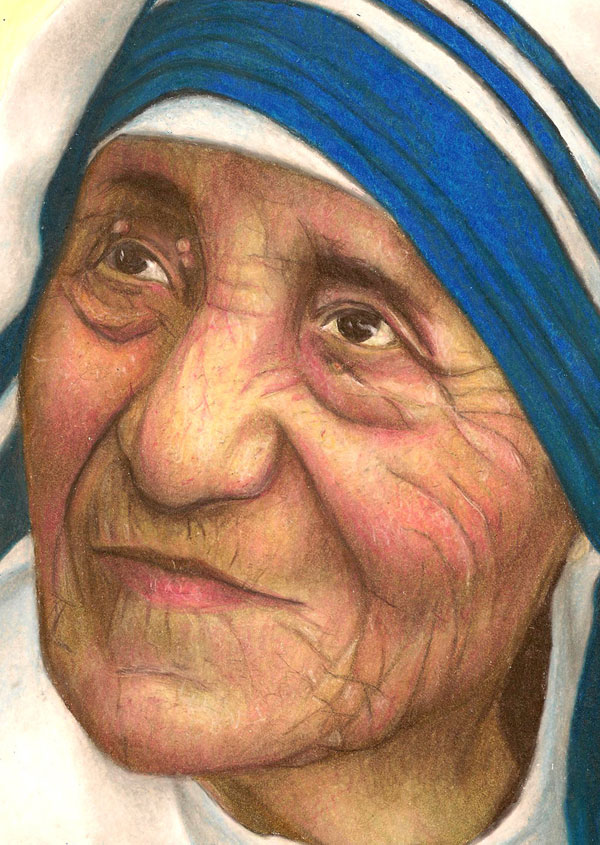 mother teresa 30 Marvelous Pictures of Famous People