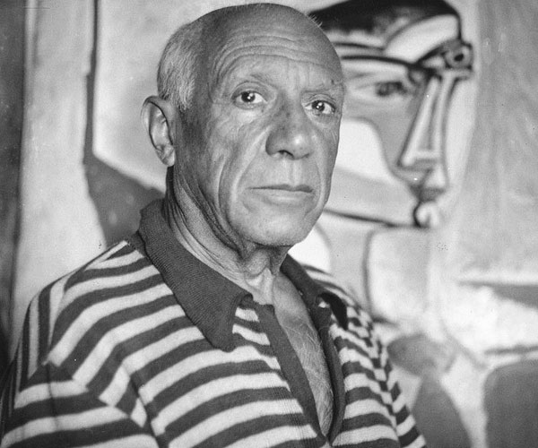 Picasso With His Painting