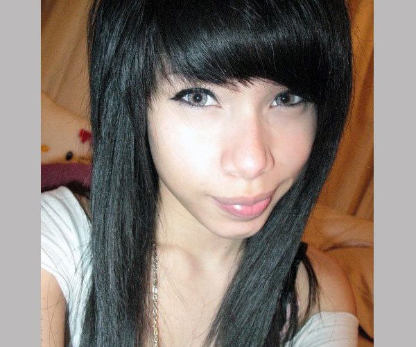 Deep Black Bangs
