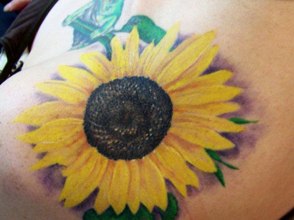 shoulderblade tattoo 35 Tremendous Sunflower Tattoo Designs