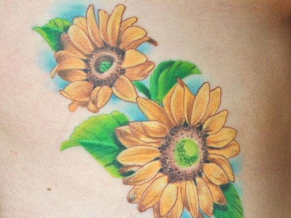 tattoo on my right side 35 Tremendous Sunflower Tattoo Designs