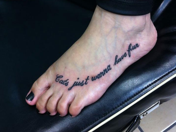 fun tattoo 40 Exciting Tattoo Quotes For Girls