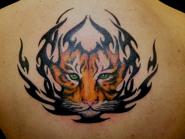 Artistic Tiger Tattoo