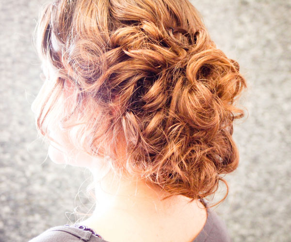 Heavy Curly Updo