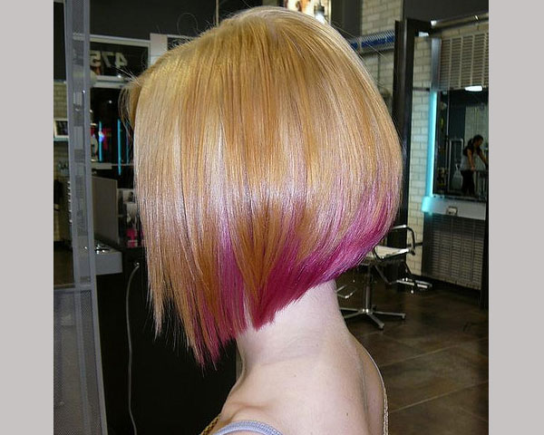 dyed hair 30 Astonishing Angled Bob Hairstyles