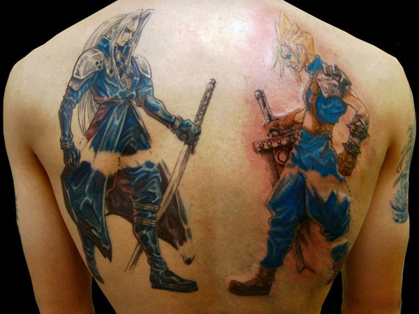 Sephiroth n Cloud Tattoo