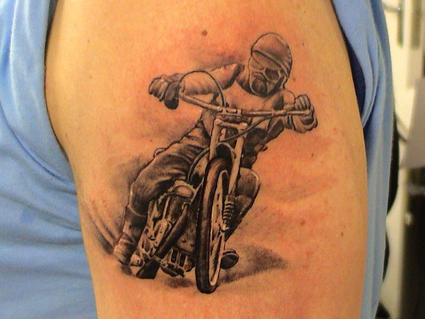 Simple Bike Tattoo
