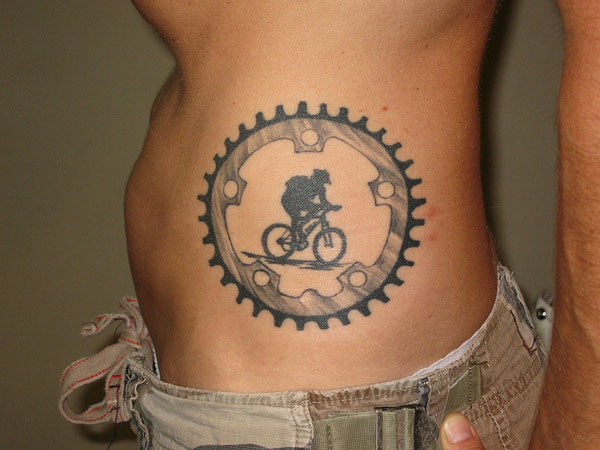 cog with the rider 25 Majestic Biker Tattoos