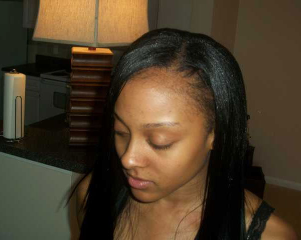 straight hair 30 Lovely Black Weave Hairstyles