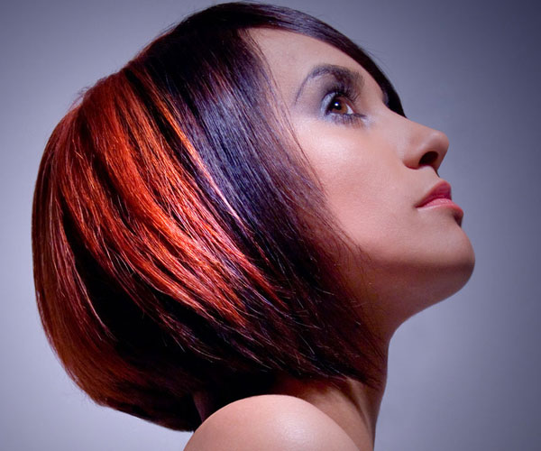 Colorful Bob Hairstyle