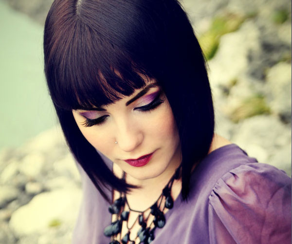touch of violet 30 Drool Worthy Bob Hairstyles With Bangs