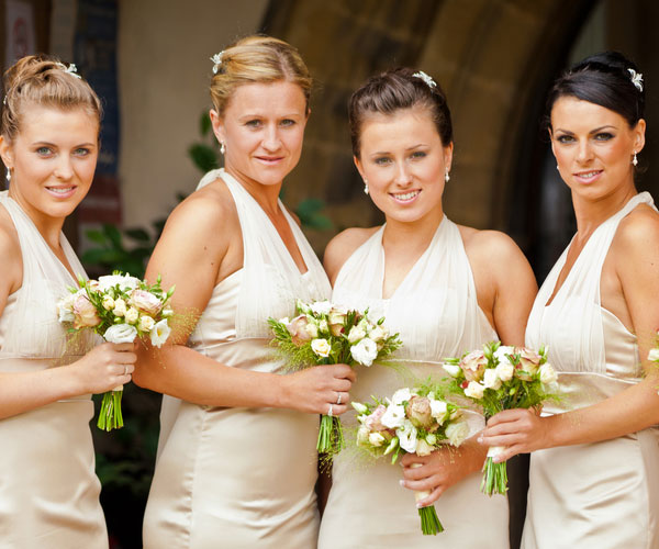 Bridesmaids With Flower