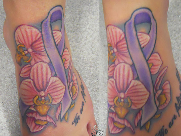 Cancer Ribbon Tattoos Slodive Designs With Images
