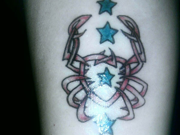 cancer star tattoo 35 Phenomenal Cancer Tattoos