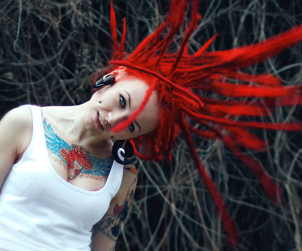 red crazy hair 40 Splendid Crazy Hairstyles
