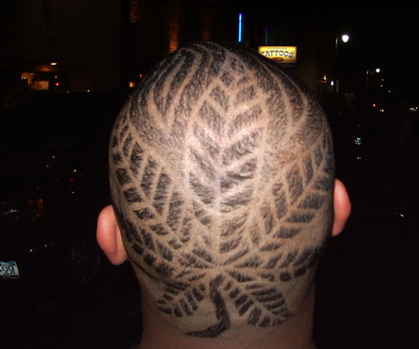 Leaf Patterns Hairstyle