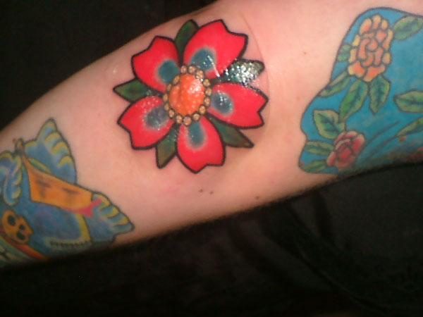 Jewel Flower Tattoo