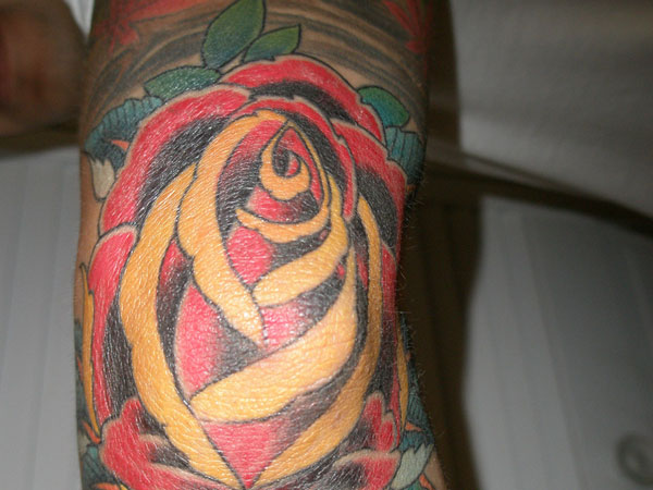 rose tattoo 30 Mind Blowing Elbow Tattoos