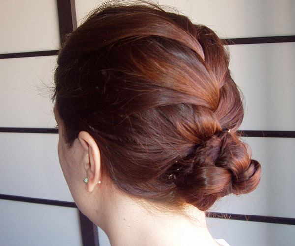 braided bun 30 Awe Inspiring Hairstyles With Braids