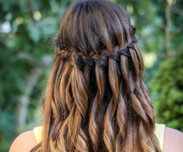 waterfall braid 30 Awe Inspiring Hairstyles With Braids