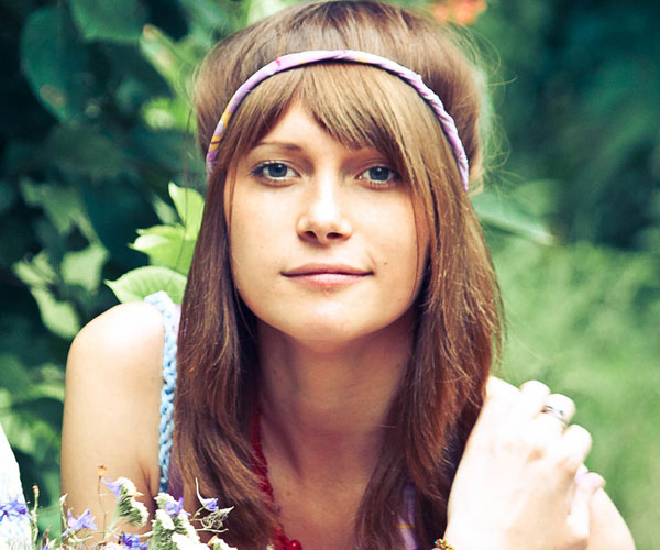 Hippie Hairstyle With Bangs