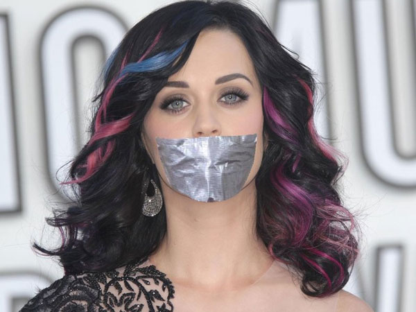 Katy Gagged with a Tape
