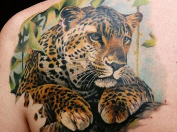 Leopard Shoulder Tattoo