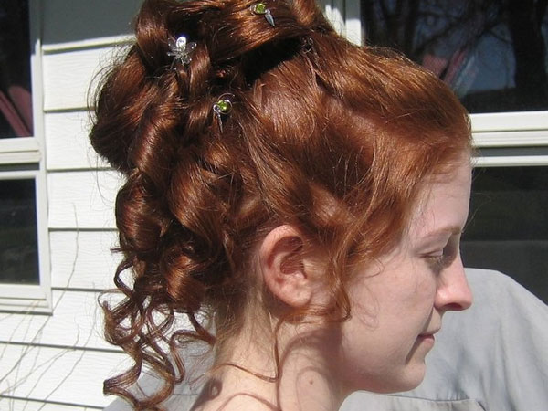 Brown Rivulets Hairstyle