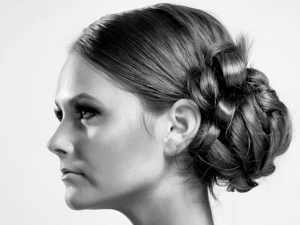 Elegant Long Hair Updo