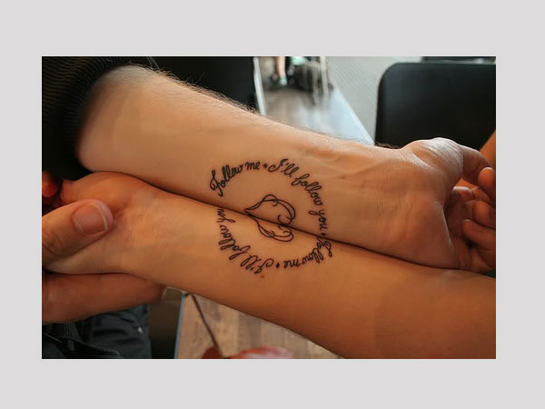 Couple Arm Tattoo