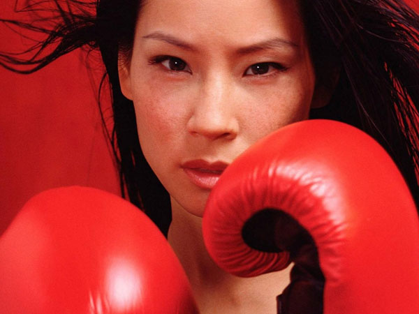 boxing gloves 30 Groovy Lucy Liu Pictures