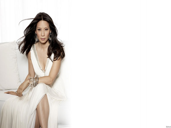 white dress 30 Groovy Lucy Liu Pictures