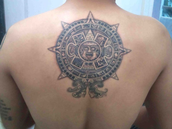 back mayan tattoo 30 Perfect Mayan Tattoos