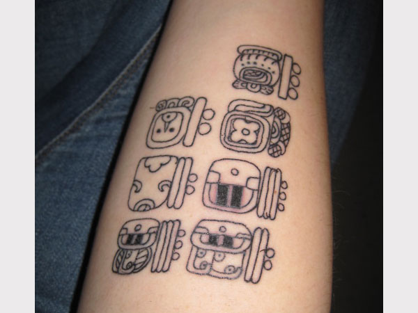 mayan characters and numbers 30 Perfect Mayan Tattoos