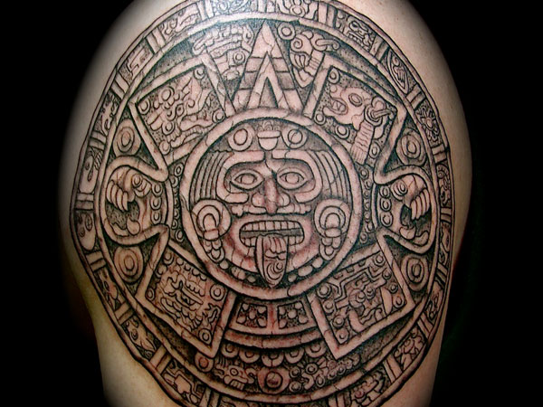 30 perfect mayan tattoos slodive. Black Bedroom Furniture Sets. Home Design Ideas