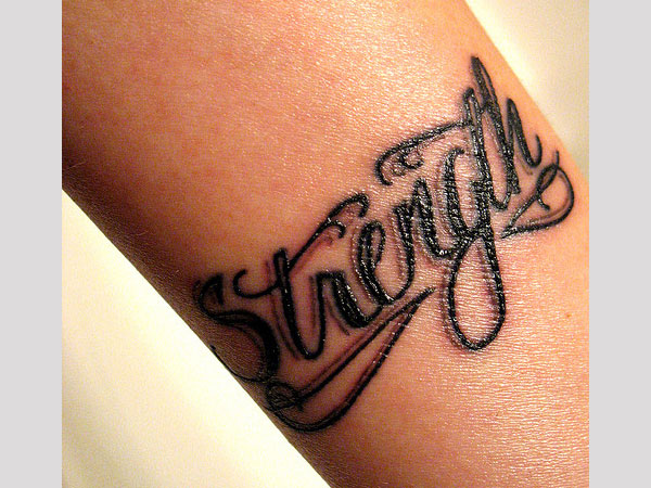 Strength tattoo