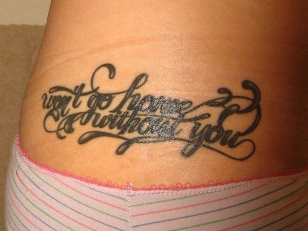 Tattoo on the lower back