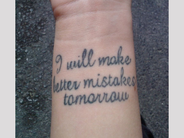 Mistakes tattoo