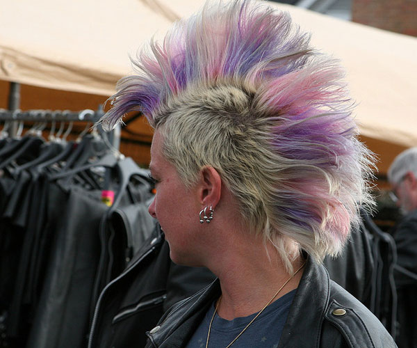 Colored Blonde Mohawk