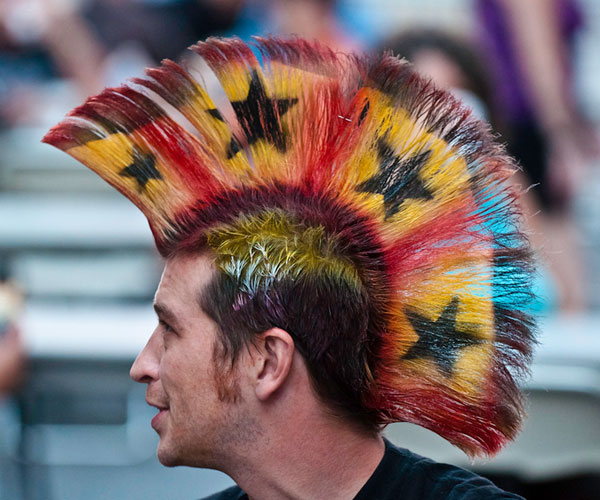 Ornamental Mohawk Hairstyle